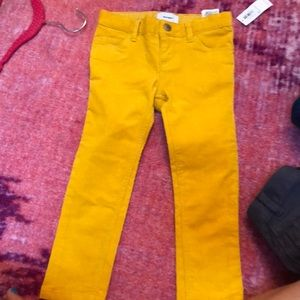 Brand new old navy cord mustard yellow 3T